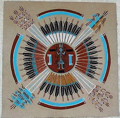 navajo sand painting, sand art, sand painting,